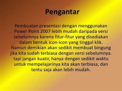 tutorial presentasi powerpoint 2007 tutorial powerpoint 2007