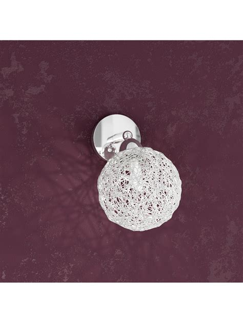 applique luce applique 1 luce con sfera in alluminio tpl1098 f1go