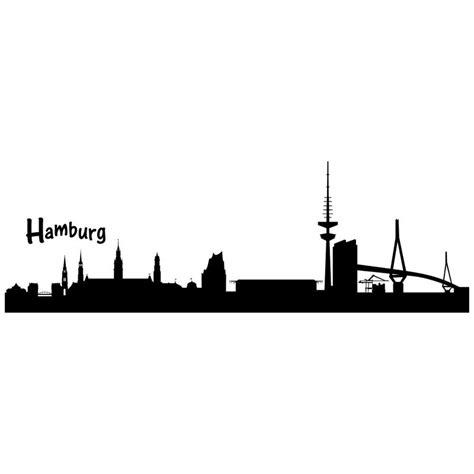 Aufkleber Hamburg Skyline by Wandtattoo Skyline Hamburg 31 92 Edesign24 De