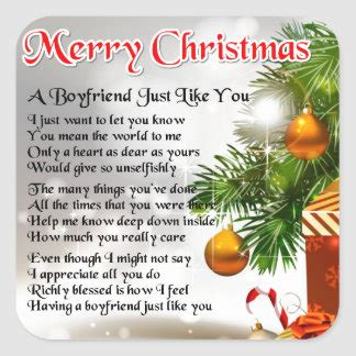 christmas poems stickers zazzle