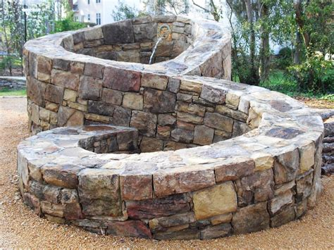 figure features structures winding path custom masonry