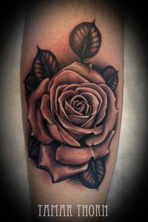 gray rose tattoo black and grey realistic pictures to pin on