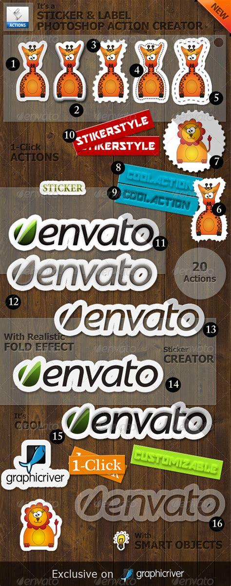Graphicriver Sticker Photoshop sticker and label photoshop creator by psddude graphicriver