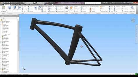 design frame inventor autodesk inventor 2013 road bike frame part 5 youtube