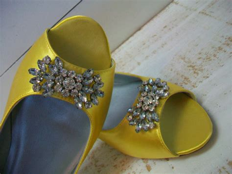 yellow flat shoes for wedding wedding shoes peep toe flats 1 2 inch heel yellow