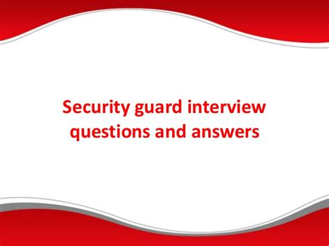 security guard questions and answers pdf