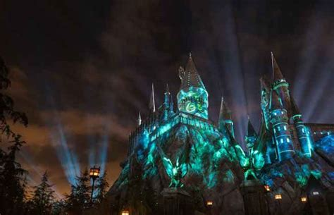 universal studios light the nighttime lights at hogwarts castle coming to