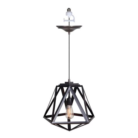 Pendant Light Conversion Worth Home Products 1 Light Brushed Bronze Instant Pendant Conversion Kit With Cage Shade Pkn