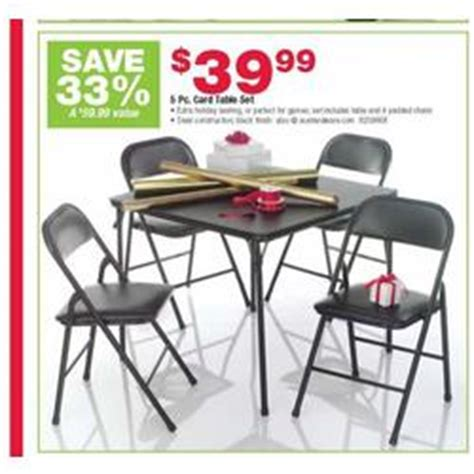 Living Accents 5 Piece Card Table Set With Padded Chairs