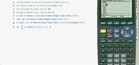 calculator equation how to use a ti89 calculator to graph linear equations