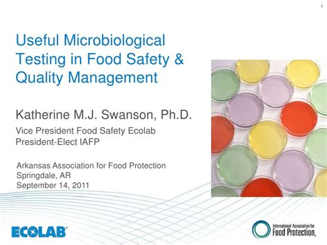 Mba In Food Safety And Quality Management In India by Useful Microbiological Testing In Food Safety And Quality
