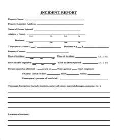 Employee Accident Report Template 47 incident report examples