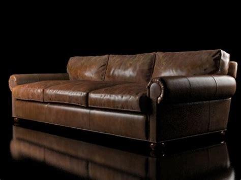 96 quot lancaster leather sofa 3d model restoration hardware