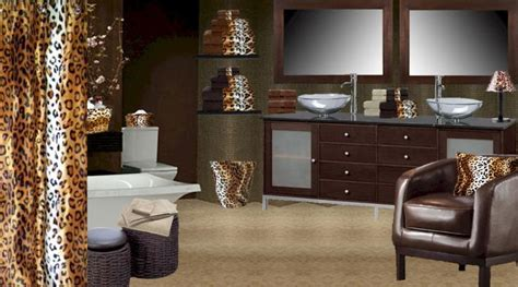 Leopard Bathroom Ideas 1000 Ideas About Cheetah Print Bathroom On Pinterest Bathroom Curtain Set Leopard Bathroom