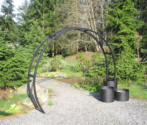 Garden Arch With Planters by Buzzard Studios Sunray Garden Arch Artworks In Steel