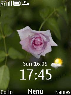 rose themes java download rose clock nokia theme mobile toones