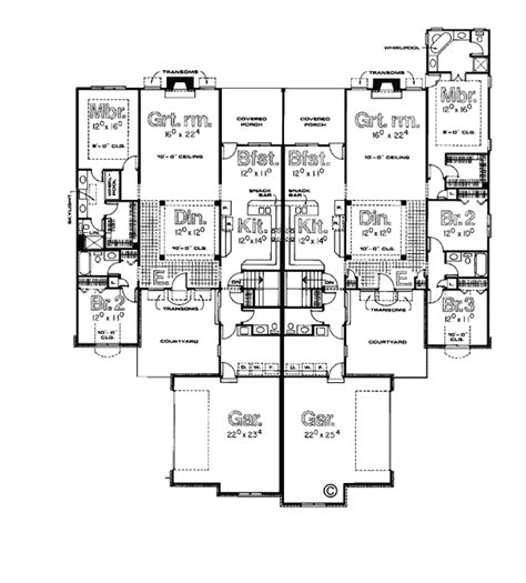 multifamily plans multi family plan 99427 at familyhomeplans com