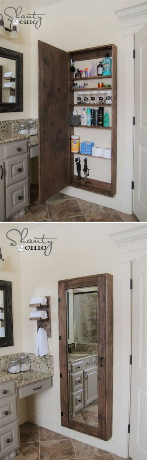 large bathroom mirror with storage best 25 clever bathroom storage ideas on pinterest