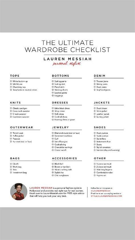 wardrobe essentials checklist lauren messiah s quot the ultimate wardrobe checklist