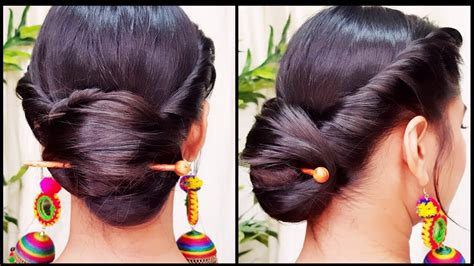 hairstyles for party bun quick indian bun hairstyle for navratri party hairstyles