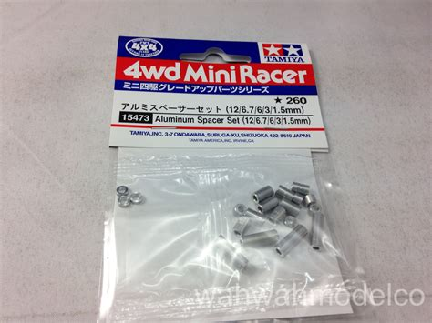 Tamiya Aluminum Spacer Set 12 6 7 6 3 1 5mm 2pcs Each Blue tamiya 15473 mini 4wd aluminum spacer set 126 7631 5mm