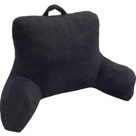 plush bed rest pillow mainstays micro mink plush bedrest walmart com