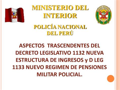 policia nacional ministerio interior ppt ministerio interior polic 205 a nacional per 218