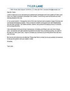 best landscaping cover letter exles livecareer