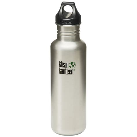 800 ml hydration bottle klean kanteen classic 800ml bottle with loop cap brushed