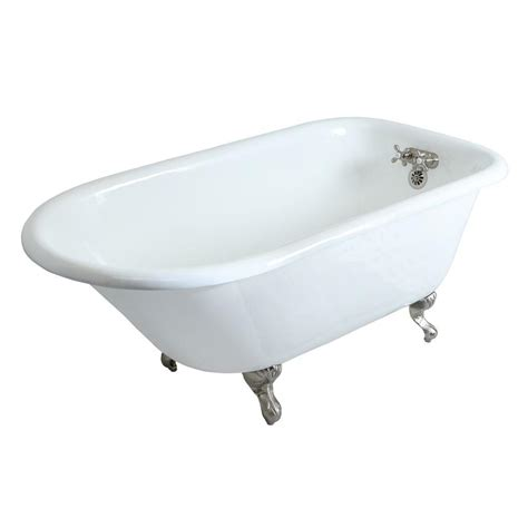 3 foot bathtub aqua eden petite 4 5 ft cast iron satin nickel claw foot