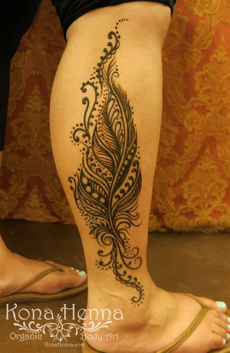 henna tattoo designs feather 1000 ideas about henna leg on leg