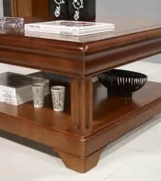 table basse carr 233 e en merisier de style louis philippe