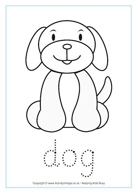 printable animal tracers dog tracing worksheet coloring pages pinterest