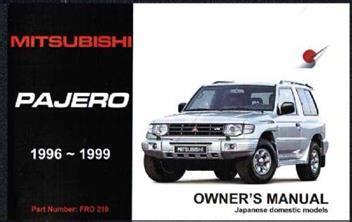 service manuals schematics 1996 mitsubishi pajero engine control mitsubishi pajero gdi 1996 1999 owners manual engine model 4g64 gdi6g74 1869760921 9781869760922