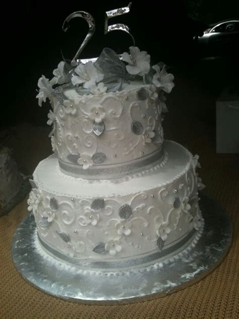 Silver anniversary by Sherry   Cakes by cakeladyandcompany
