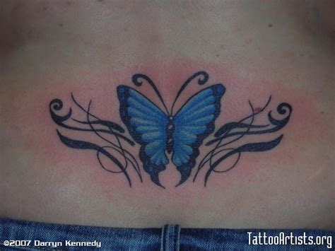 female lower back tattoos butterfly tattoos and designs page 415