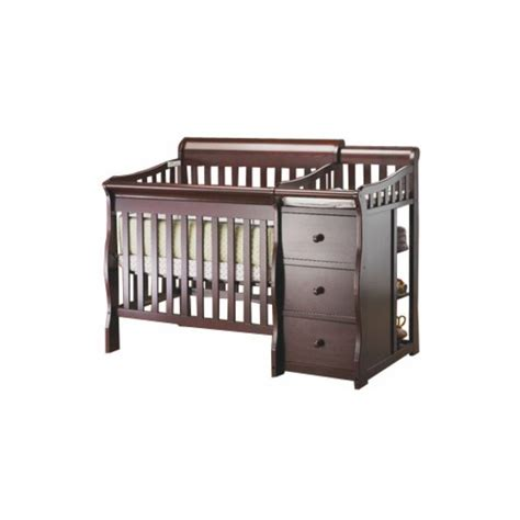 Mini Crib And Changer Combo Sorelle Newport 3 In 1 Mini Convertible Crib Changer Combo In Merlot 595 M