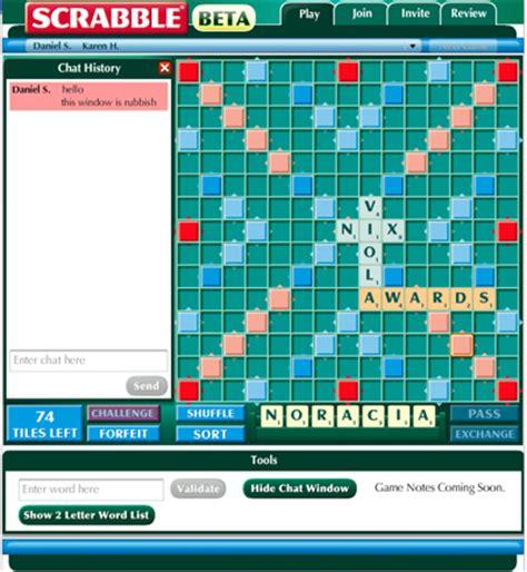 tv scrabble scrabble 174 vs scrabulous it s application war