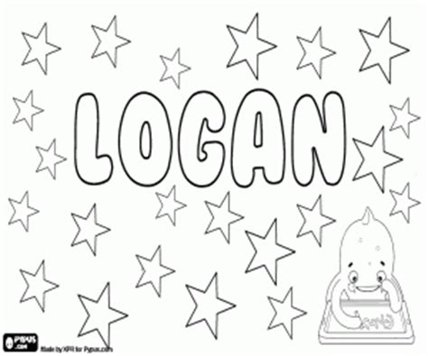 logan name in english and scottish coloring page