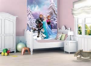 childrens girls room wall mural wallpaper home decoration frozen elsa disney ebay