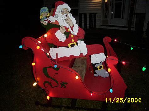 santa and sleigh yard art santa sleigh and reindeer yard part 2