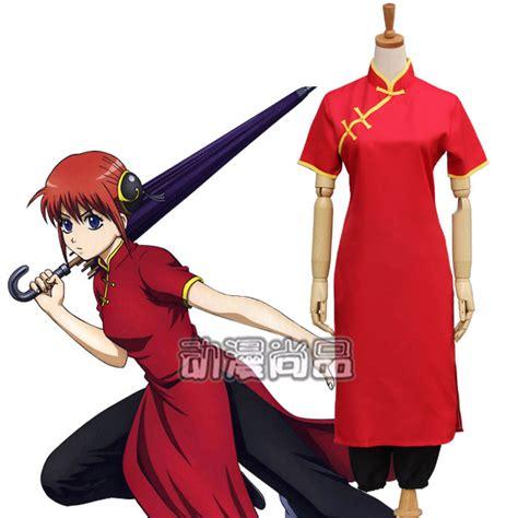 Harajuku Uciha Anime new tang suit kongfu gintama kagura cheongsam
