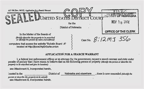 Fbi Warrant Search Warrant Authorized Fbi To Track And Infect Computers With