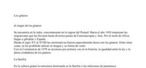 Présentation Lettre Espagnol Bac Pr 233 Sentation De Quot Los Gitanos Quot En Espagnol