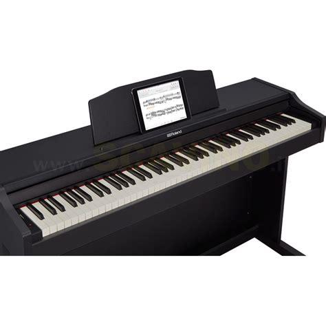 roland rp bk pianoforte digitale amplificato nero complero  stand piani digitali