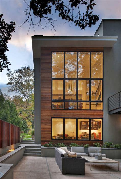 floor  ceiling window  contemporary house exterior
