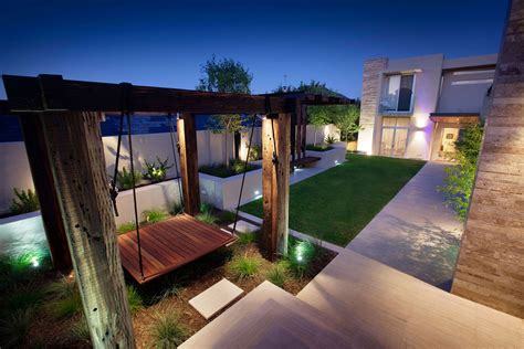 modern backyard stunning outdoor living area bicton house in perth australia