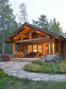 log cabin in the woods big