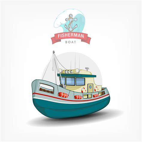 cartoon boat vector free cartoon fish boat vector material 03 free download