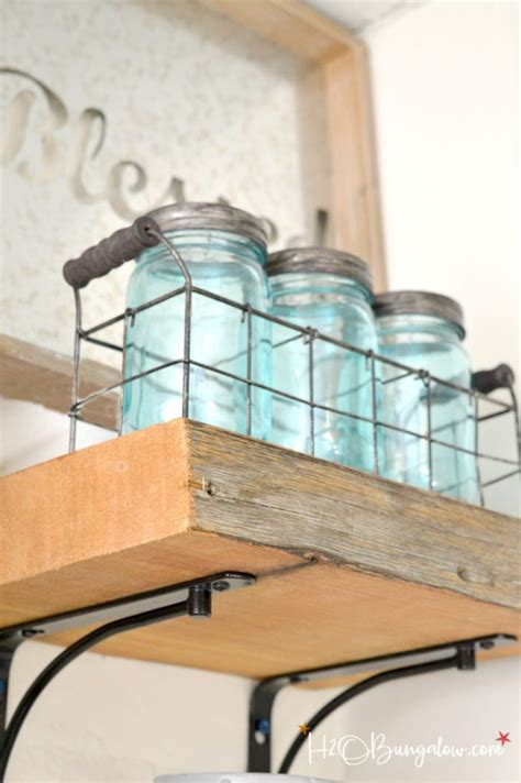 diy reclaimed wood kitchen shelves hobungalow